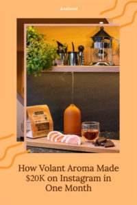 Volant Aroma started in a pandemic, but their sales from Instagram show no signs of slowing down. See how they grew revenue from social in just one year!