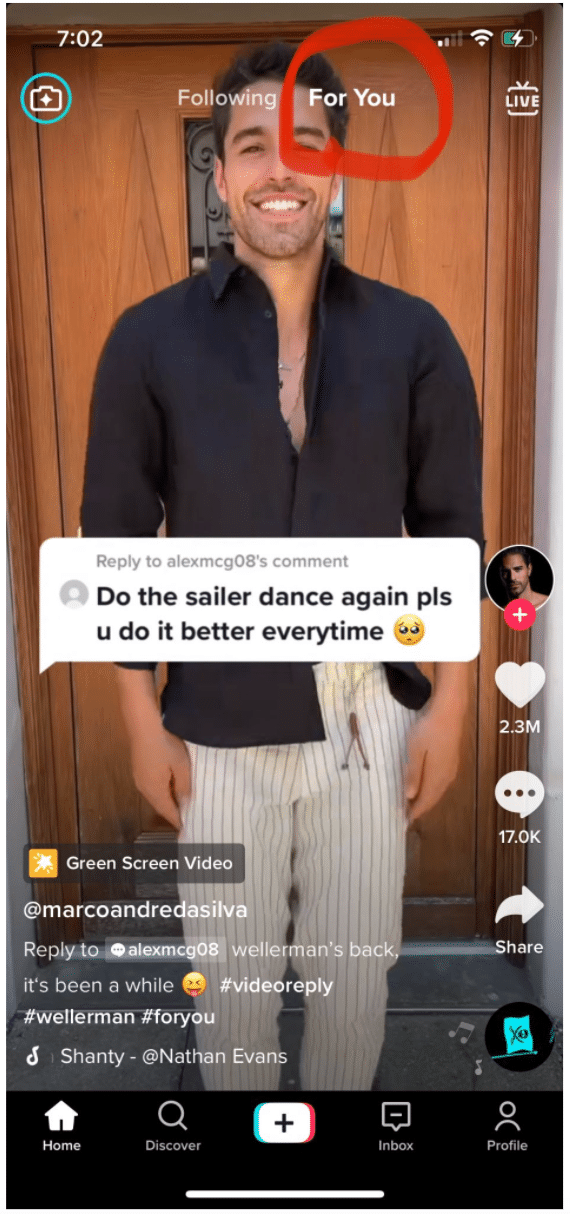 For You Page on TikTok
